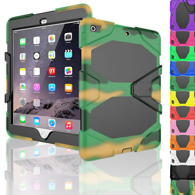 For Apple Ipad 6Th Generation 9.7 2018 Tough Stand Heavy Duty Armor Case Cover