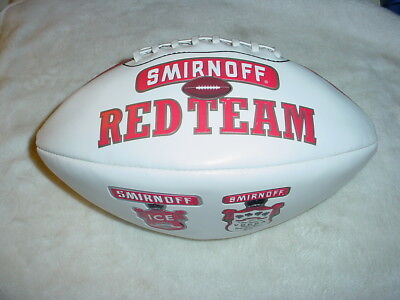 "Rare Smirnoff Vodka & Ice ""red Team"" Full Size Wilson Football"