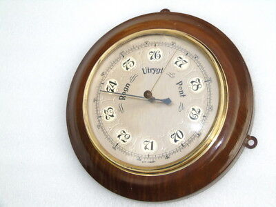 Antique Wood Brass West Germany Ships Boat Yacht Marine Weather Barometer