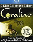 Coraline( Blu-ray/ Dvd) Collector's Edition with 3D Glasses Dakota Fanning New