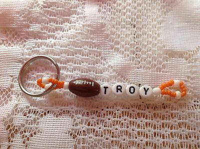 Boys Or Men's Personalized Keychain Or Zipper Pull With The Name Troy-New