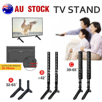 Universal Tabletop LED LCD TV Stand Height Adjustable Fit 32 to 65 inch