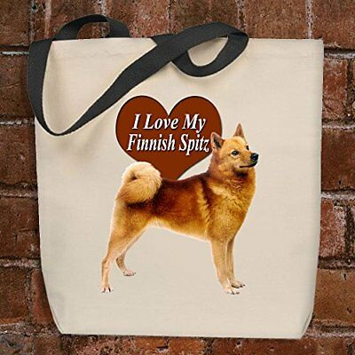 I Love My Finnish Spitz - Tote Bag