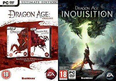Dragon Age Origins - Ultimate Edition & dragon age inquisition     new&sealed