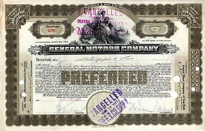 General Motors Company 1916 ( First Year) Stock Certificate #4248