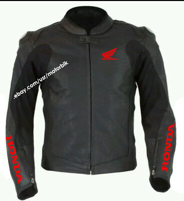 Honda CBR Jacket, Honda Leather Motorcycle Racing Jacket