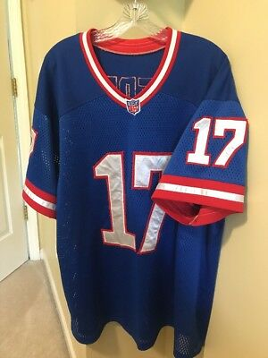 Rare Vintage New York Giants Jersey  17 Blue Sewn On Teddy Nfl Football 4530299f0