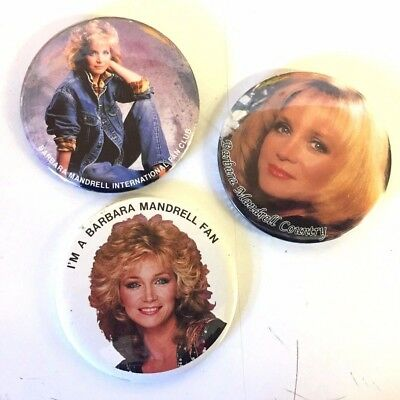 Vintage Barbara Mandrell Souvenir Sister Country Concert Buttons Pins Mirror WOW