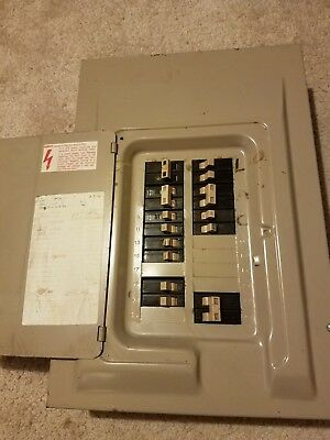 Cutler Hammer Load Center Breaker Box With Breakers Including A 100 Amp Main