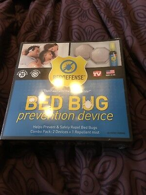 Bed BUG PREVENTION DEVICE BED DEFENSE DEVICES + 1 REPELLENT MIST BRAND NEW