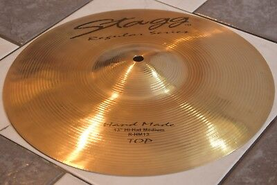 """Vintage Bronze Stagg Cymbals Percussions Handmade Top TM  R-HM 13"""" /33cm"""