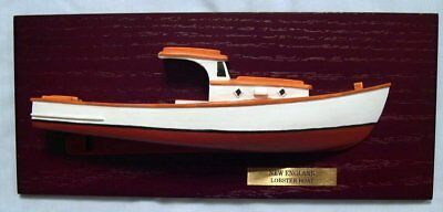"""Large Historic New England Lobster Boat 1/4""""=1' Scale Half Hull Model"""