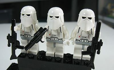 2018 LEGO Star Wars Lot Set of 3 Snow Trooper Army minifigs 7749 8084 Christmas