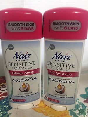 Nair Glides Away Sensitive with Coconut Oil and Vitamin E - Hair Remover 2 pack