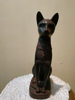 EGYPTIAN ANCIENT  ANTIQUE BASTET Statue Ubaste Cat Stone 1420-1390 BC
