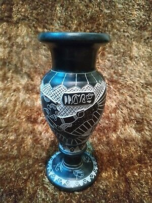 Pharaonic vase Egyptian Hand  Carved