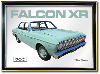 Wall Bar Mirror Artwork Suit Ford Xr Falcon 500 Enthusiasts