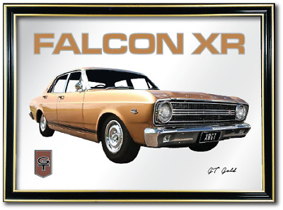 Metal Mirror Artwork A4 Suit Ford Xr Falcon Gt Enthusiasts