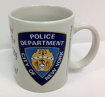 New York City Police Department Souvenir Coffee Cup