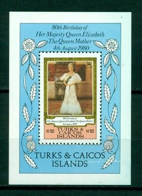 Turks & Caicos Islands Scott #441 MNH S/S Queen Mother Elizabeth's 80th $$