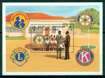 Turks & Caicos Islands Scott #456 MNH S/S Rotary Int'l 75th ANN $$