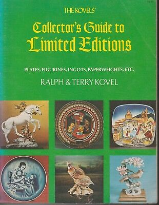 1974 The Kovels' Collector's Guide to Limited Editions Plates Figurines Ingots