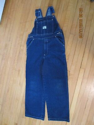 """Youth WEST END BLUES  bib Overalls  size 8 100% cotton zip Fly Inseam 22"""""""