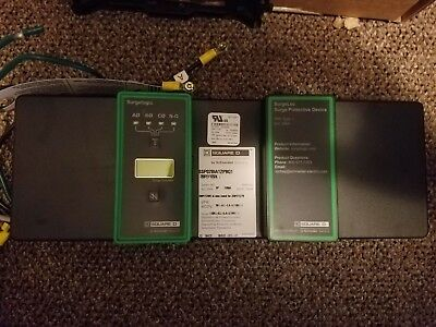 Square D SSP02BIA12PBQ1 3 phase whole panel surge suppressor new, damaged mount