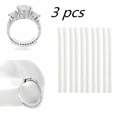 3 Pcs Ring size reducers Spiral Invisible Snugs Guard RESIZER ADJUSTERS TOOLS AL