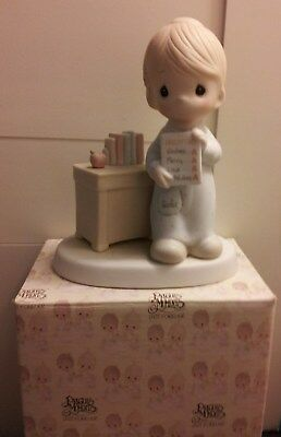 "ENESCO PRECIOUS MOMENTS ""Love Never Fails"" (Teacher), No. 12300 with Box!!!"