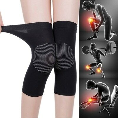 1 Pair Knee Sleeve Compression Brace Support Sport Joint Pain Arthritis Relief