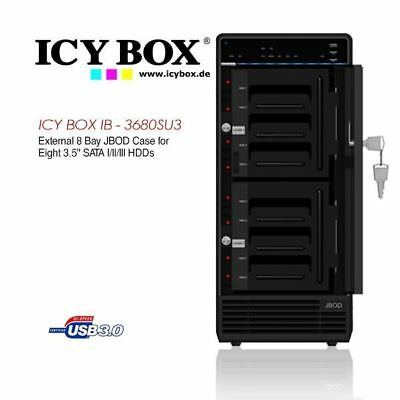 ICY BOX (IB - 3680SU3) External 8 Bay JBOD Case for 8 x 3.5 Inch SATA l/ll/lll H