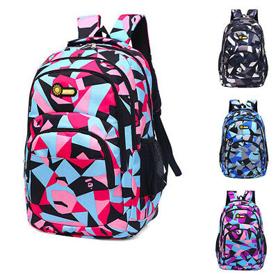 Fashion Teenage Girls Boys School Backpack Camouflage Printing Students Bags