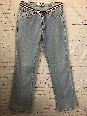 Vintage Tommy Hilfiger Lt Stonewashed High Waisted Mom Jean Size 6 Straight Leg