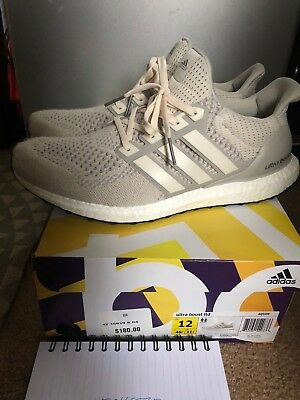 661a93f36 Adidas Ultra Boost Cream Chalk Men's Running Shoes Size 12 AQ5559 RARE 2016