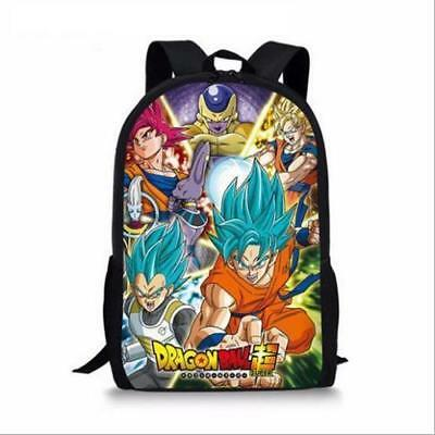 Cartoon Anime Dragon Ball Super Saiyan Goku School Bookbag Backpack Student Bag