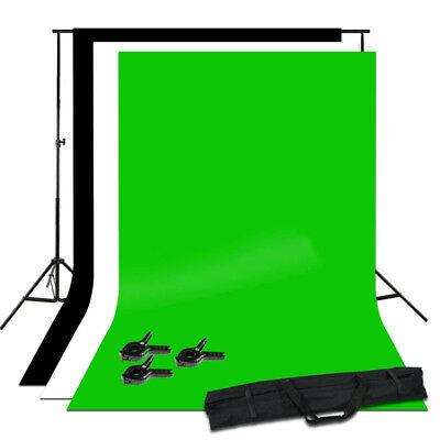 Photography Large Black/White/GreenBackdrops Screen Background Support Stand Kit