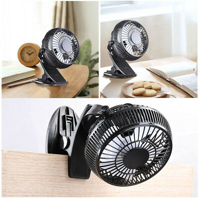 Portable USB Fan Clip On Table Desk 360° Rotation Personal Cooling Office Home
