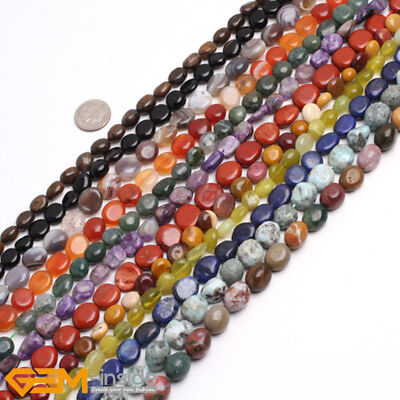 Potato 4x6-6x8mm Natural Gemstone Freeform Chips Beads For Jewellery Making 15""