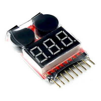 2in1 1-8s RC Lipo Batterie Voltage Tester Low Voltage Buzzer BB Alarm LED NEUE