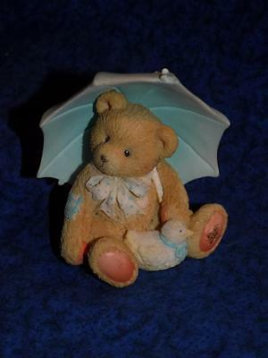 1993 Enesco Cherished Teddy ALAN-APRIL-UMBRELLA