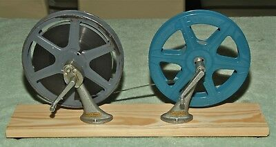 16mm REWIND ARMS ON WOODEN BASE