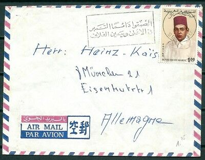 MOROCCO 1970s COVER, SEFROU TO MUNCHEN GERMANY, NICE STAMPS-CAG 130818