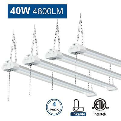 4 Pcs Linkable LED Shop Light for Garage, 40W 4800LM worklight Fixture