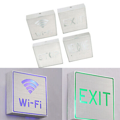 LED IP65 1W Indicator Lamp Sign Light Wall Mount For Public Places AC85-265V