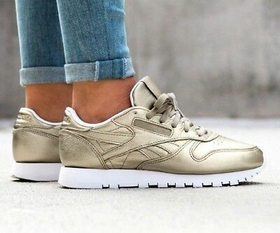 Melted Metallic Classics Leather Pearl Trainers Womens Metals Reebok t6OqHwt