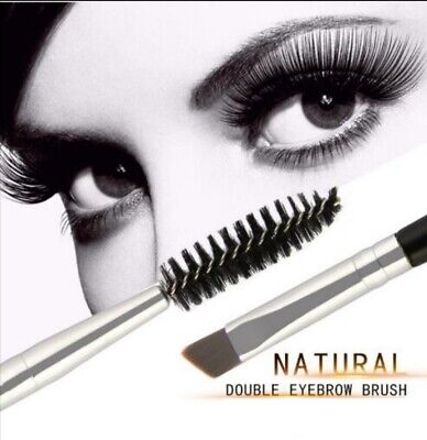 Eyebrow Brush Dual-ended Duo Brow Eyeliner Angled Cut Bamboo Brush Makeup Tools