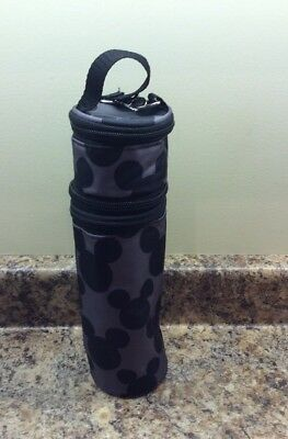 Disney Baby Mickey Mouse Zippered Insulated Bottle Pacifier Bag Carrier Holder