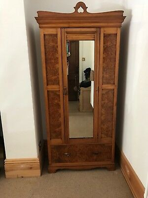 Vintage Wardrobe with bottom drawer & mirror