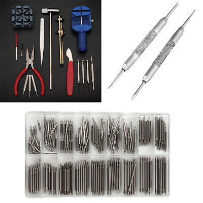Watchmaker Watch Repair Tool Kit Back Case Opener Remover Spring Pin BarS 8-25mm
